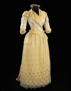 historical fashion (fripperiesandfobs: Dress, 1891 From the...)
