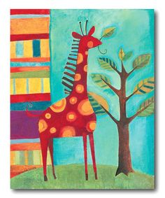 Take a look at this Colorful Graffiti Canvas by COURTSIDE MARKET on #zulily today!