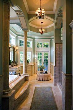 "IF we get that house, and IF I can add a bathroom, this is the bathroom I want for my suite, with a copy of my current closet. That would be my nicest room ever. Sigh. ""Dream Home Master Suite Bath. One day I will have this....right??"""