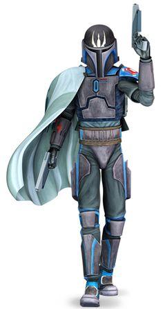 Pre Vizsla, not a good representative of true Mandalorians and leader of the Death Watch.