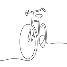 Bicycle continuous line vector illustration - Buy this stock vector and explore similar vectors at Adobe Stock Illustration Ligne, Outline Art, Bike Poster, Minimalist Drawing, Bicycle Art, Cycling Art, Line Drawing, Doodle Art, Easy Drawings