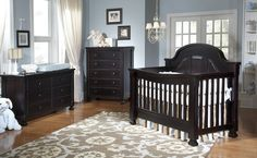 Baby Holcombe's crib has been selected! It is a convertible crib: crib, day bed, toddler bed, full size bed, and QUEEN size bed. Baby Nursery Rugs, Baby Boy Rooms, Baby Boy Nurseries, Baby Cribs, Nursery Room, Nursery Ideas, Wood Nursery, Nursery Inspiration, Girl Nursery