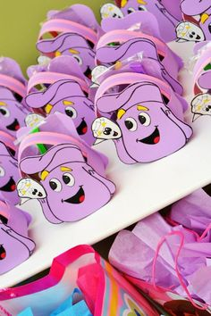 Dora party...backpack favour bags with explorer items in it