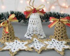 24 crochet snowflakes SET 24 dell'albero di SevisMagicalStitches