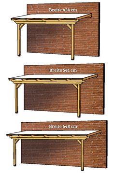 Skizzen der Terrassenüberdachung