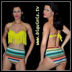 Biquíni Rio de Janeiro Cherie com bojo e calcinha vintage Ref.12680 Tamanho M.