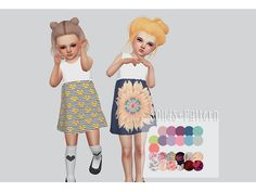 """kalewa: """" TS4 Sweet Little Dress - Mommy&Me I'm in love with this dress, It was inspired by my real life dress. My first little EA edit! I hope you guys enjoy! Also made it for toddlers too ! • NEW..."""