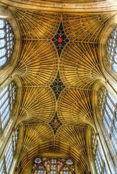 Vaulted Ceiling of Bath Abbey, England