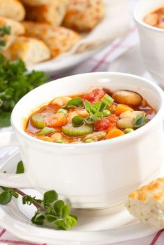 Photo about Closeup of bowl of hot fresh Minestrone soup and cheese garlic breadsticks. Image of breadsticks, bowls, garlic - 9135212 Garlic Breadsticks, Chana Masala, Celery, Thai Red Curry, Healthy Eating, Soup, Healthy Recipes, Fresh, Ethnic Recipes