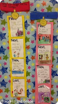 Step into 2nd Grade with Mrs. Lemons: My Week in Pictures!! Second Grade Writing, 2nd Grade Grammar, Grade 1 Reading, Kindergarten Writing, Teaching Narrative Writing, Recount Writing, Teaching Reading, Narrative Story, Sequencing Activities