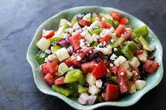 Dad's Greek Salad #paleo (minus the feta)