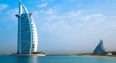 Burj Al Arab-18 mil dólares, diária. Como hospede, você pode desfrutar do restaurante abaixo do mar, com paredes que se parecem um aquário enorme.