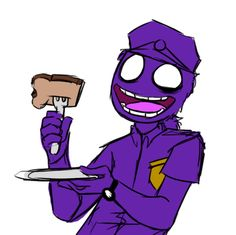 Purple Guy loves his toast :3