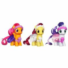 Amazon.com: My Little Pony Forever Friends Figure Pack - FLOWER GIRL THREE PACK: Toys & Games