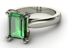 emerald cut settings ring - Google Search