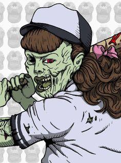 Zombie Softball Player - Artist :John Stone http://thinkcookcookworld.com/