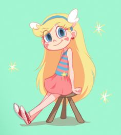Saw Daron Nefcy's early Star outfits on her tumblr and liked this one in particular. So cute                   ☆