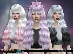 Intention Hair by LeahLillith at TSR • Sims 4 Updates