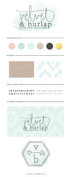 Velvet & Burlap lifestyle blog brand design / by Heart & Arrow Design