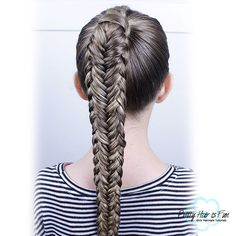 Twisted Edge Fishtail Braid : Pretty Hair is Fun Box Braids Hairstyles For Black Women, Fast Hairstyles, Ponytail Hairstyles, Pretty Hairstyles, Hairstyle Ideas, Medium Hair Styles, Short Hair Styles, Long Box Braids, Hair Dos