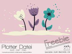 Jasando.ch - Freebie Plotterdatei flower-power