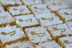 Marianna's Lemon Bars-from the first Apron Strings cookbook and always a big hit at Champagne and Chocolates and other RSOL events. Amor Ideas, Music Cakes, Piano Recital, Music Themed Parties, Reception Food, Dinner Themes, Complete Recipe, Lemon Bars, Food Themes
