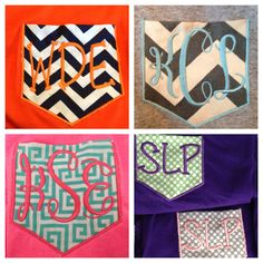 Girls youth long sleeve monogram pocket Tshirt  Christmas?