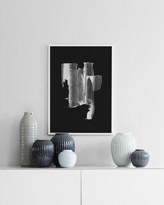 White stroke, poster