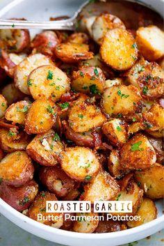 Roasted Garlic Butter Parmesan Potatoes | Crate Recipes3