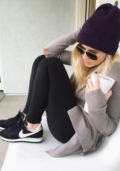 Weekend- Lululemon Wrap Sweater/Beanie - my cold weather uniform