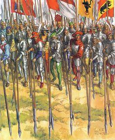 """1500 c. Piqueras suizos """"L'Infanterie Suisse vers 1500"""""""