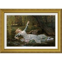 Global Gallery 'Ophelia' by Alexandre Cabanel Framed Graphic Art Size: 2