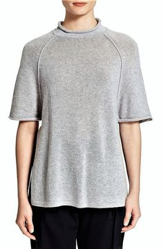 75d3cab8500b 3 1 Phillip Lim Raglan Cutoff Sleeve Gray Wool Zak Cashmere Sweater Large