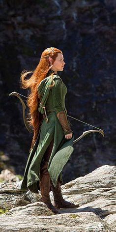 Evangeline Lilly as Tauriel from the Hobbit