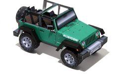 Paper Cutout Jeep Rubicon JK (Open Top) http://papercruiser.com/downloads/jeep-rubicon-jk-open-top/