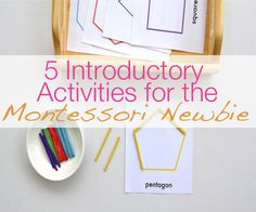 Montessori activities: shapes