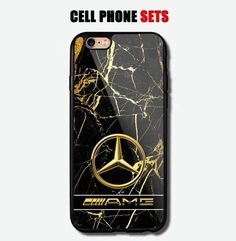 Mercedes Benz AMG Golden Marble Logo Custom Design For iPhone Case Cover Iphone 6 S Plus, Iphone Se, Iphone Wallet Case, Iphone Case Covers, Mercedes Benz Amg, Cool Things To Buy, Custom Design, Marble, Logo