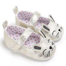Crianças Gato Bonito Dos Desenhos Animados Do Bebê recém-nascido Berço Sapatos Bebe Meninas Princesa Primeiro Walkers Ballet Sola Macia Anti-Slip Calçados(China)