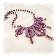 Art Deco Beaded Necklace by Creative Treasures @  Folksy