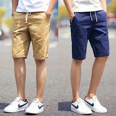 2017 Men Shorts | Summer Fashion Solid Men's Shorts | Casual Cotton Sl – Bereal.co
