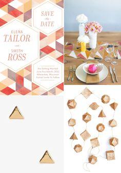 Geometric Wedding Ideas   Fly Away Bride