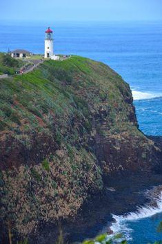 Kilauea Point Lighthouse - Kauai, Hawaii: With epic views of Kauai's northern coastline, a walk along the path to this lighthouse also provides the opportunity to see native Hawaiian birds, dolphins and even whales. Kauai Hawaii, Hawaii Travel, Travel Usa, Beach Travel, Kilauea Lighthouse, Poipu Beach, Hanalei Bay, Waterfall Features, Waimea Canyon