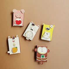 DIY Matchbox-cards - Set of 5 - Do It Yourself Animal Greeting Cards -