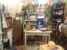 Booth 187 at the Brass Armadillo Antique Mall has wonderful antique and vintage treasures!  The old wooden ironing board is only 19.95, as is the inflatable Morton Salt advertisement.  There are vintage kitchen items, old sheet music, collectible books, and much more! This dealer also has more great deals on goodies in booth 97. Come on down or call for more info. (888) 847-5260...They ship stuff, too!  : )