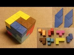 How to make a Soma Cube from Sonobe Cubes - YouTube