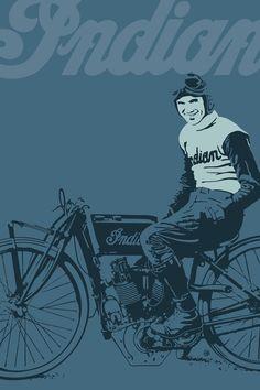 Motorcycle Board Track Racer 4 Art Print