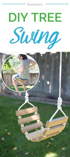 DIY tree swing for kids and adults!