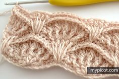 crochelinhasagulhas: Ponto de crochê Shell Texturizado