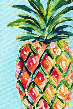 Pineapple Painting Demo & Tutorial | Learn How to Paint a Pineapple with Acrylic Paint Step by Step