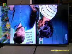Televisor LED LG, imagem ou tela invertida.
